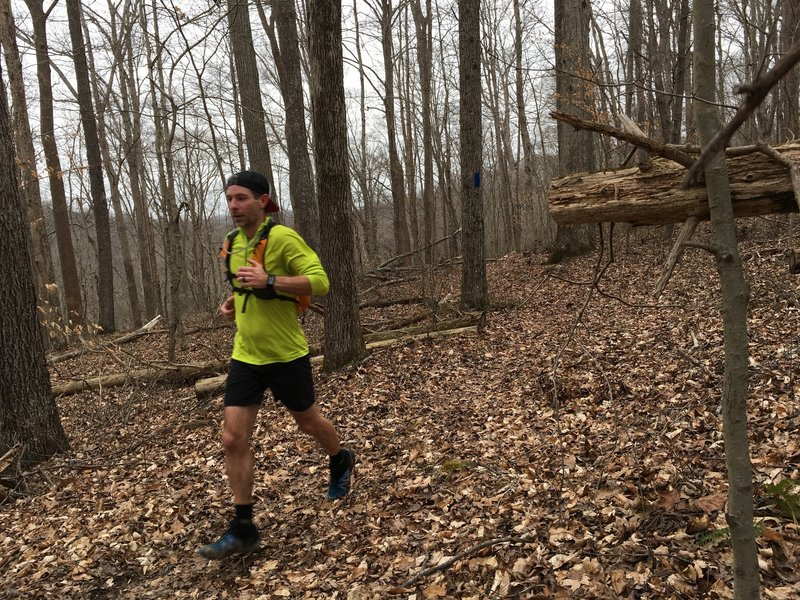 A runner loves the Raymer Hollow Trail.