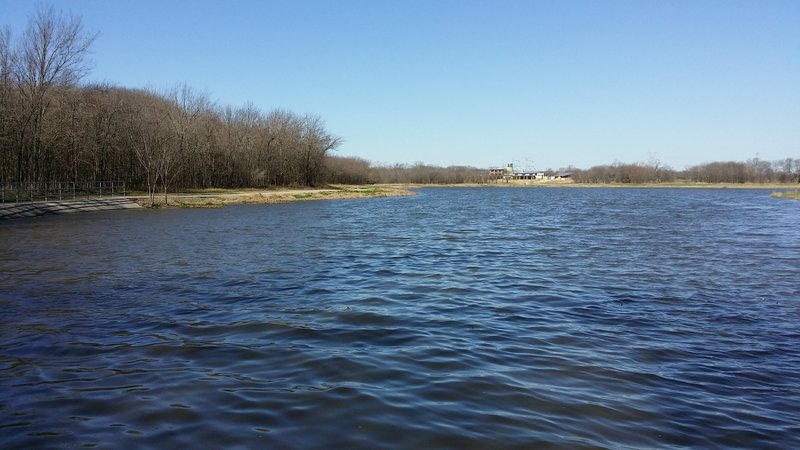 The Nature Preserve Center hides at the far end of this small lake.