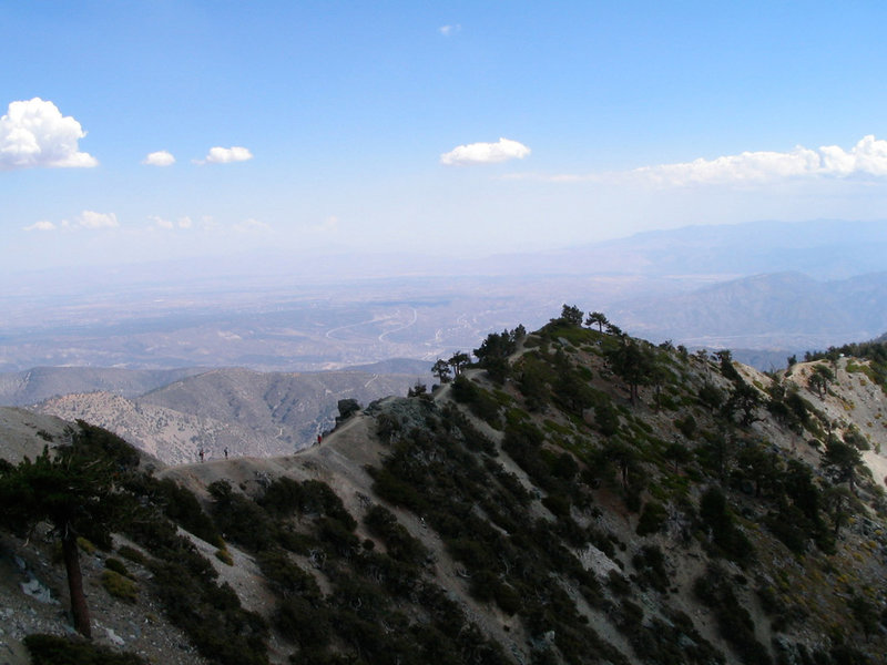 The Devils Backbone juts out of the ground on Mt. Baldy.