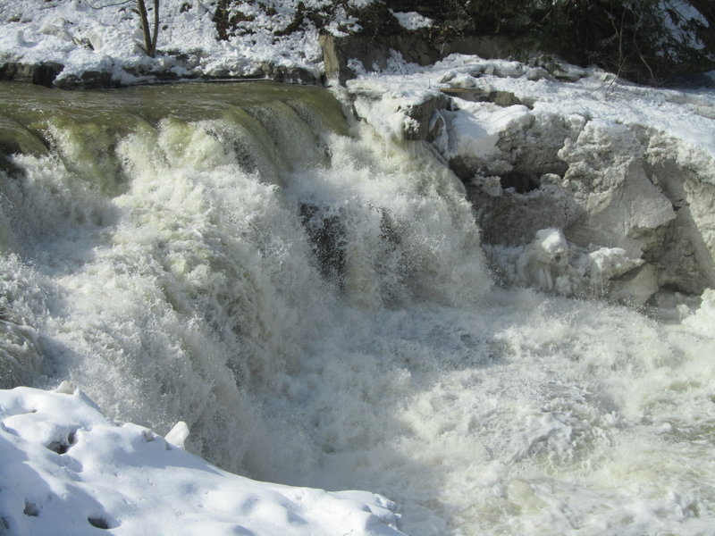 While they're much smaller than Taughannock, the lower falls near the parking area are still beautiful in their own right.