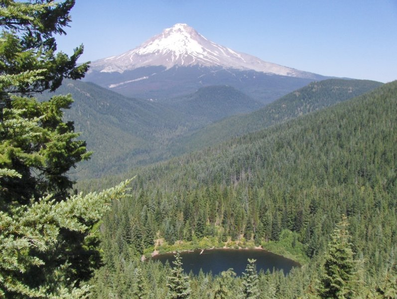 The Veda Lake Trail provides excellent views of Mt. Hood with the lake itself in the foreground. Photo by USFS.