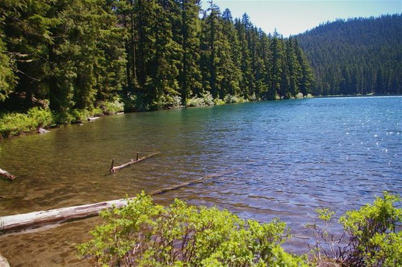 While the air may be warm, Lower Twin Lake makes for a cold summer swim.