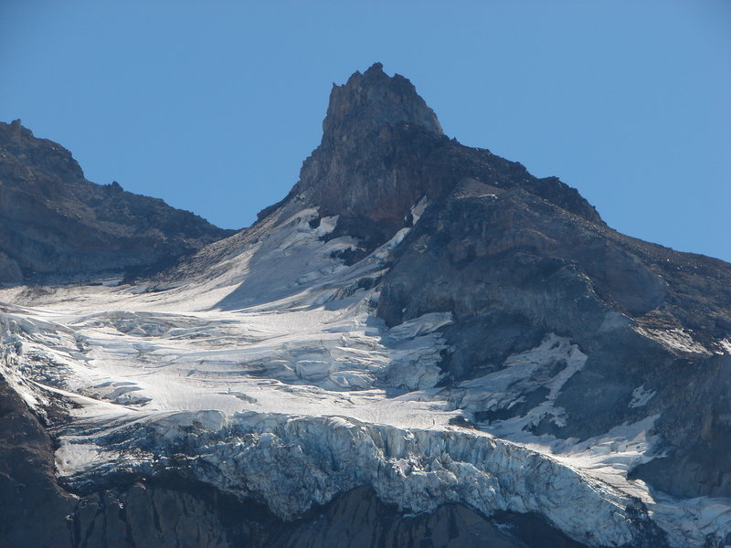 Reid Glacier and Illumination Rock are gorgeous from the Yokum Ridge Trail. Photo by Yunkette.