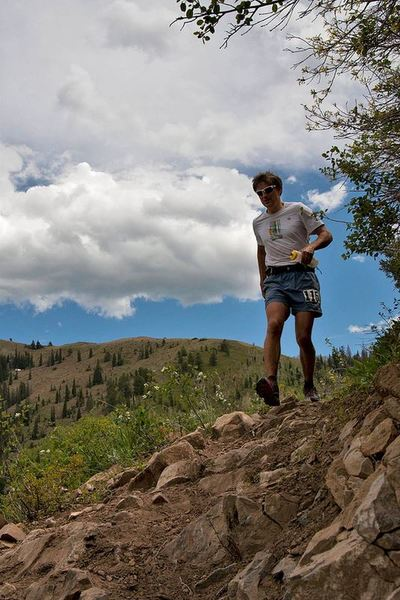 About a mile down from Windy Pass, runners still have to encounter sharp rocks underfoot.