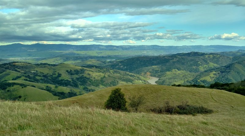 The Valley of the Heart's Delight (AKA San Jose and its countryside) offers a beautiful scene from the summit of Bald Mountain.