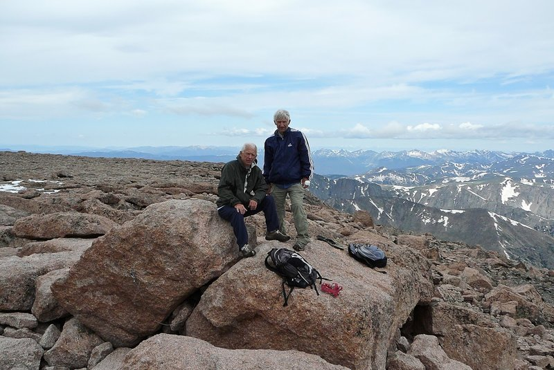 The summit of Longs Peak offers incredible views of the Front Range and Rocky Mountain National Park.