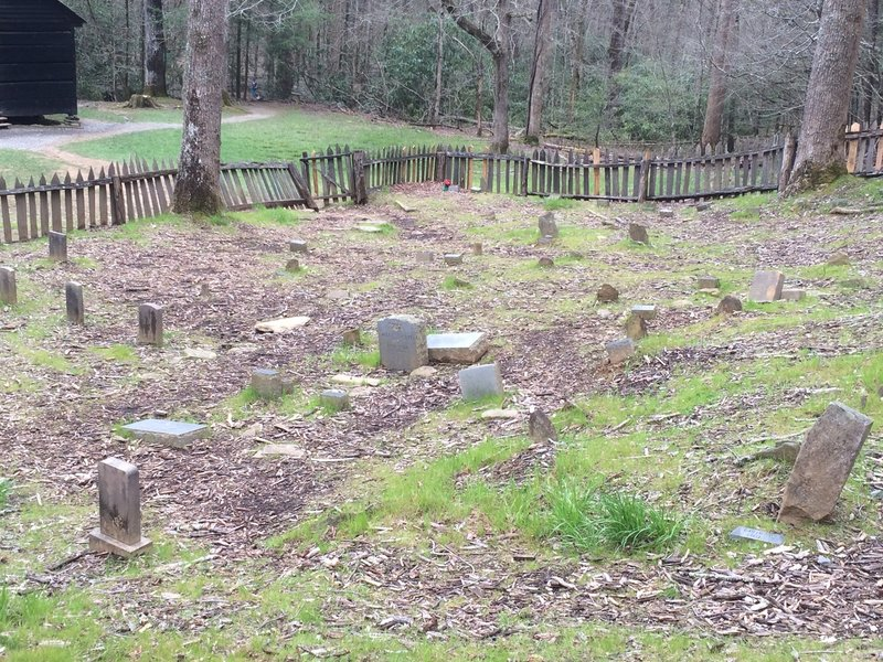 The Little Greenbriar School, church, and graveyard serve as a reminder to a time passed in the Great Smoky Mountains.