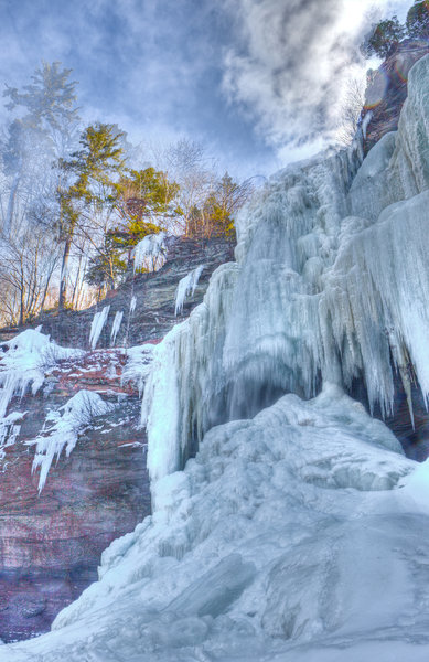 Kaaterskill Waterfall takes on an entirely new character in wintertime.