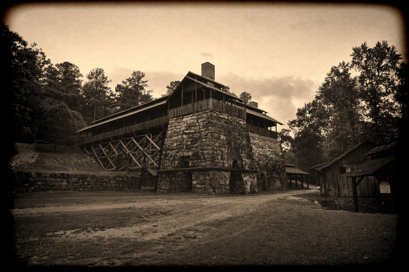 Check out the Tannehill Ironworks Blast Furnaces 1, 2, 3, and Blower House along the Iron Works Loop.