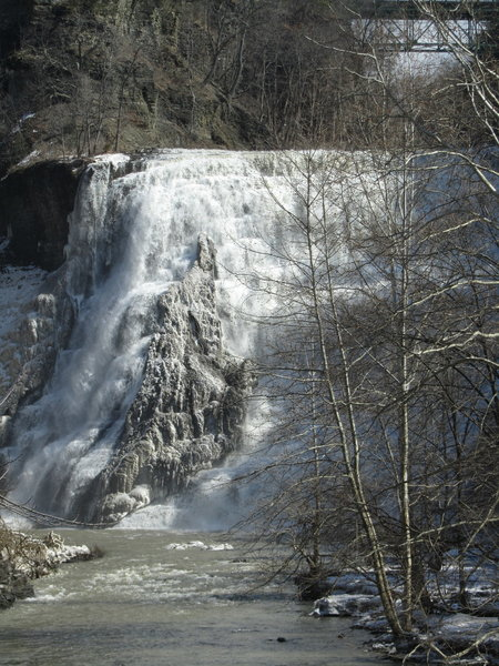 Ithaca Falls remains a gorgeous sight in the winter.