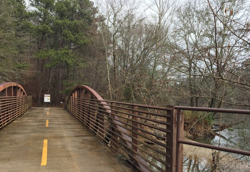 Enjoy the view from this footbridge just before the main trail entrances (WP 02-03).