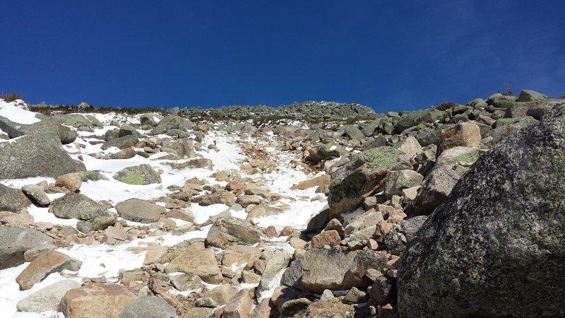 Abol Slide Trail offers winter access.