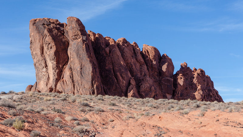 Expect to see huge rock formations along the Fire Wave Trail.
