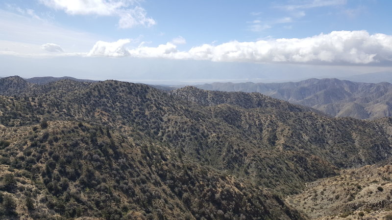 The view from Warren Peak looks out over Palm Springs.
