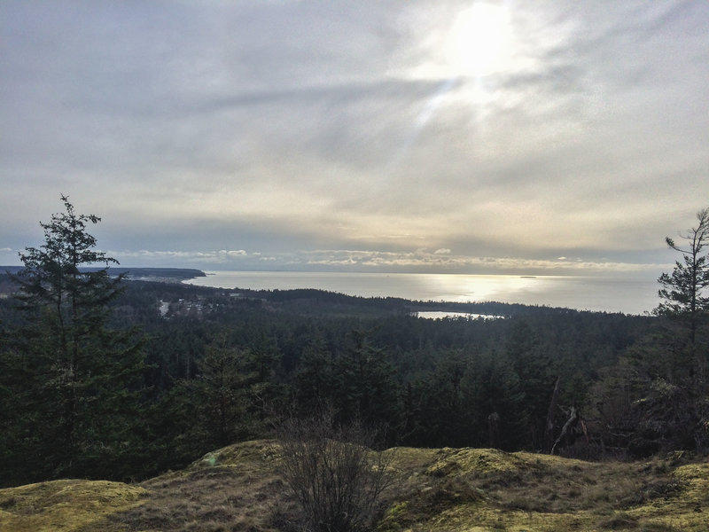 Savor the spectacular views from the summit of Goose Rock.
