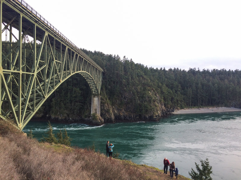 Deception Pass Bridge is the main attraction in its namesake state park.