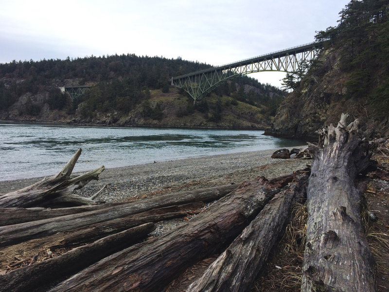 Enjoy easy beach access from Deception Pass State Park.