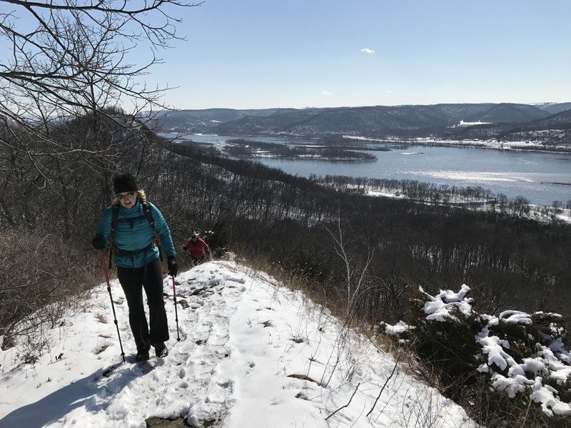 Great views await from the incline that marks the beginning of Perrot Ridge.