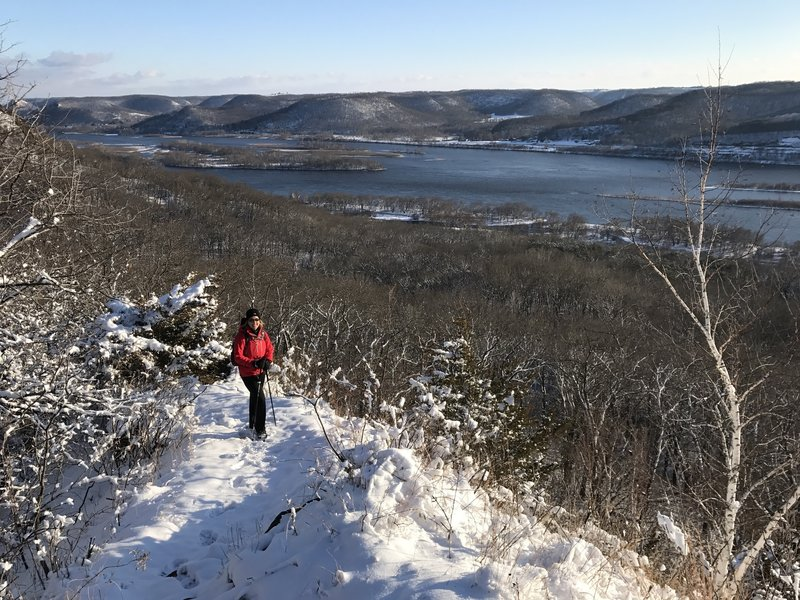 The beginning of the ridgeline along the Perrot Ridge Trail offers phenomenal views of the surrounding area.