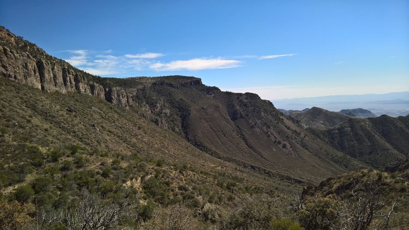 Blue Canyon is quite beautiful from the Laguna Meadow Trail.