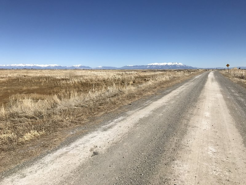 The southern reaches of the Sangre de Cristos from the Auto Route.