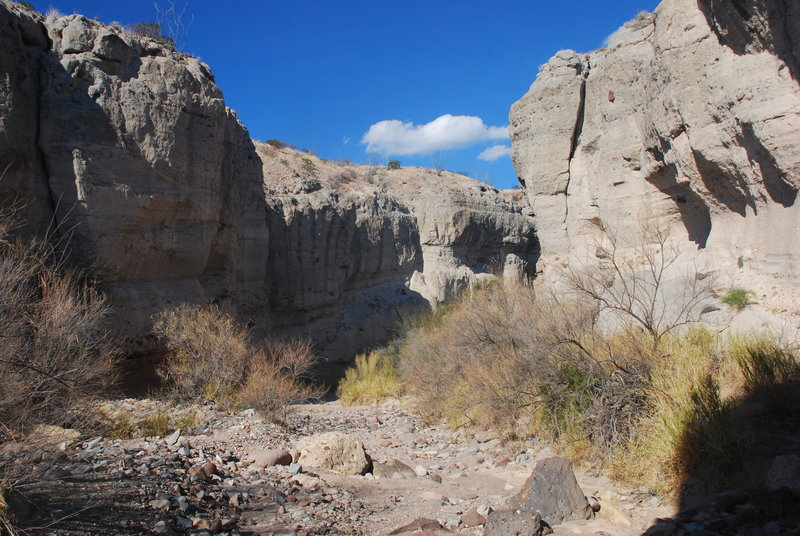 Tuff Canyon offers an exciting look into the area's volcanic history.