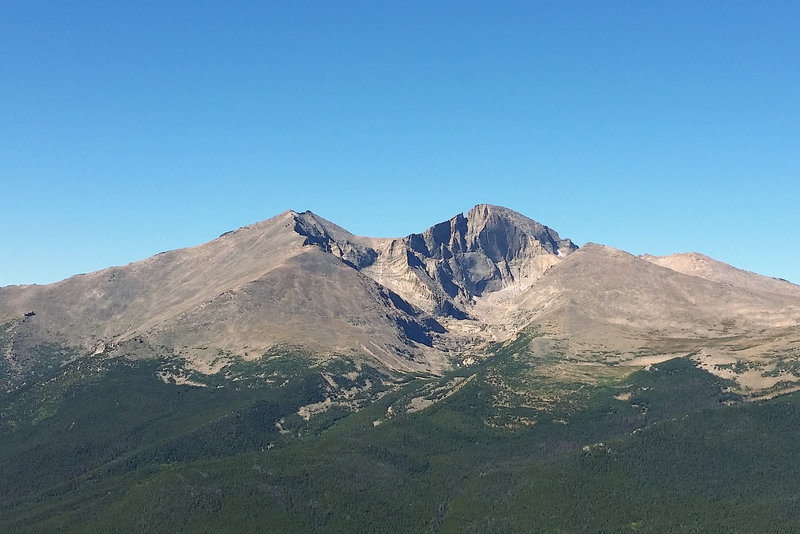 The summit of Twin Sisters Peak offers phenomenal views of Longs Peak and Mount Meeker.
