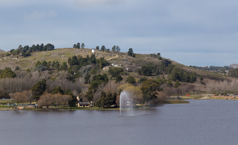 Fort Lake is just outside Tandil.