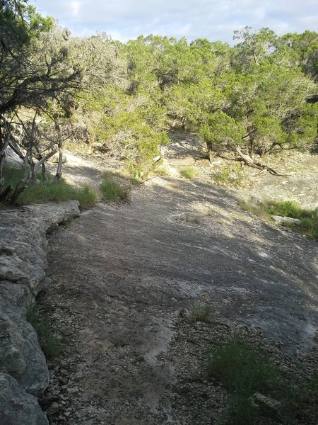 A section of slick rock along the Goldwater Loop Trail.