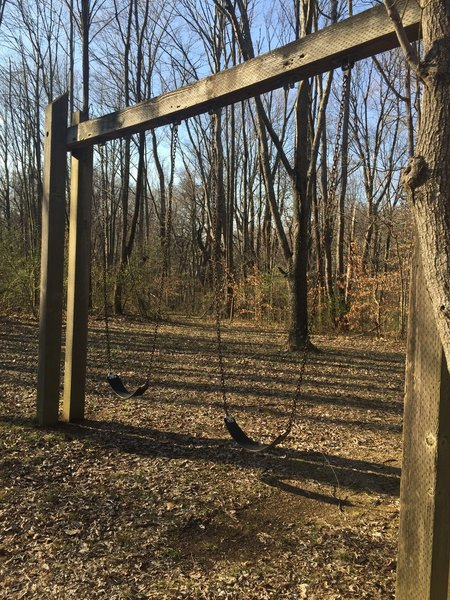 Trail 6's swing set makes it a good option for those with kids.