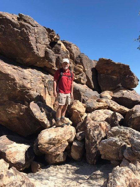 Goat Camp Trail requires that you navigate some large rocky sections.