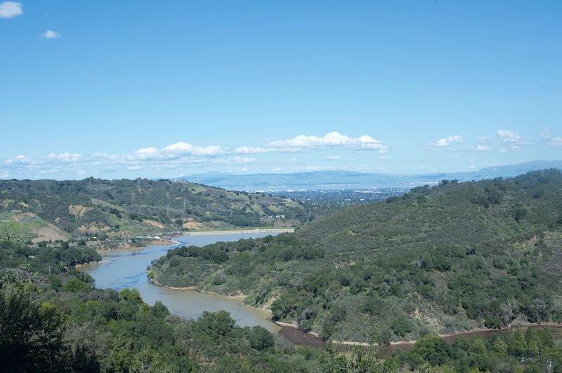 Soak up the views of Stevens Creek Reservoir from the Zinfandel Trail.