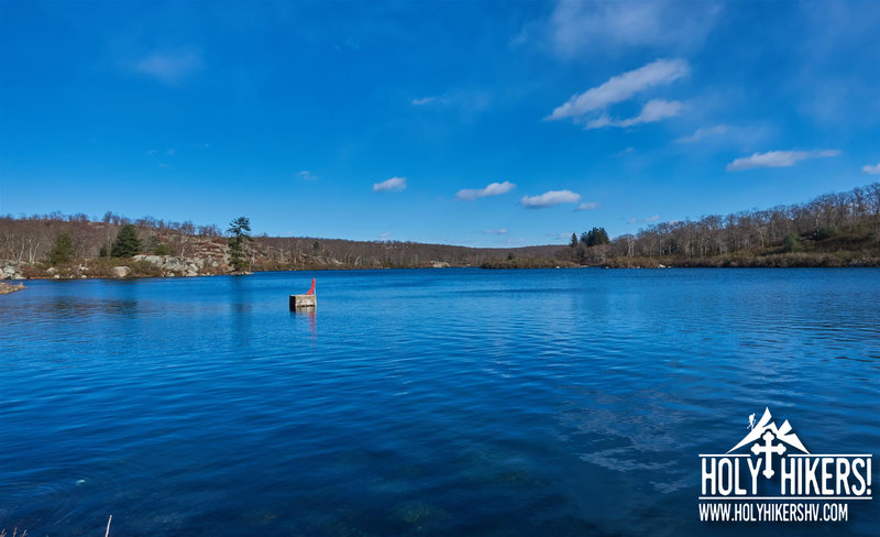 Enjoy pleasant views of Pine Meadow Lake from Pine Meadow Road.