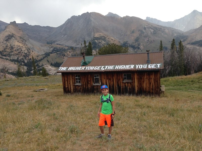 Pioneer Cabin awaits you (along with incredible mountain views) at the trail's end.