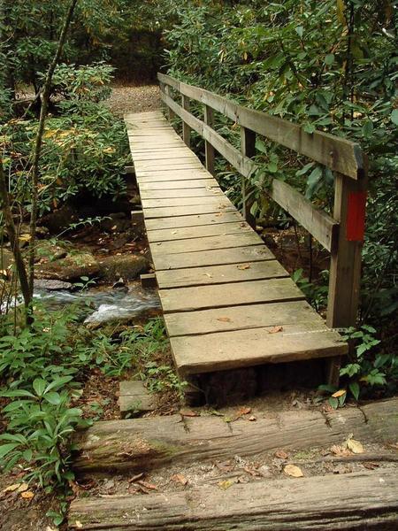 A sturdy bridge aids your passage over Grogan Creek.