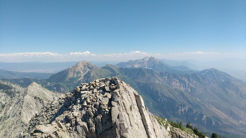 Enjoy phenomenal views looking south from Lone Peak.