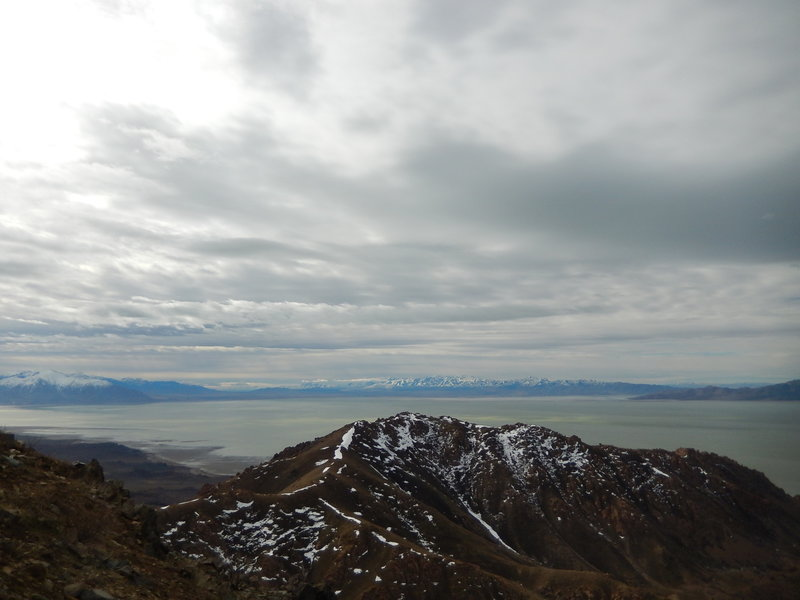 Frary Peak offers great views of the mountains surrounding Great Salt Lake.