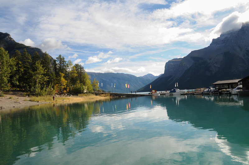 Lake Minnewanka has a day use area from which you can access the Stewart Canyon Trail or go for a boat ride if you fancy.