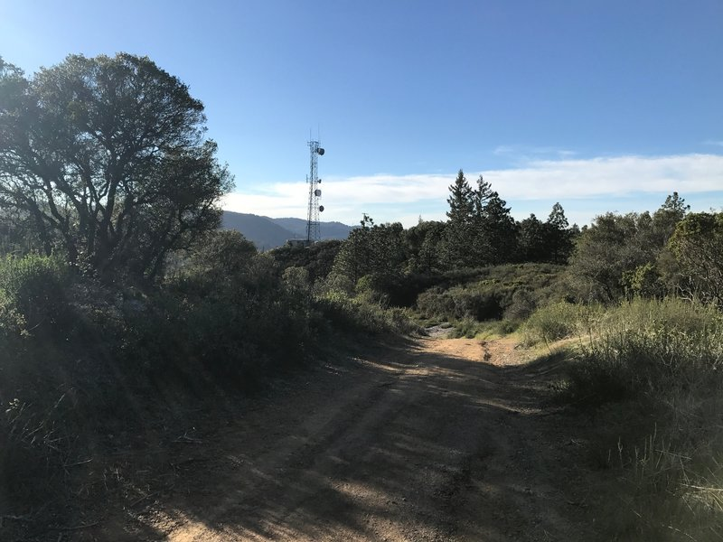 As you approach the boundary of the preserve, a radio tower comes into view.