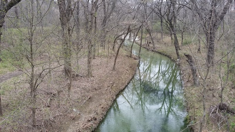 The gentle, winding Russell Creek is the spine of this greenbelt area.