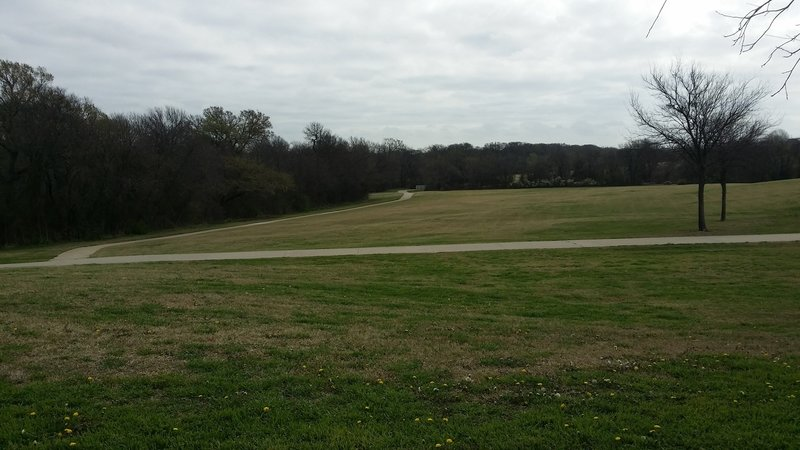 Wide-open spaces abound along the trail.