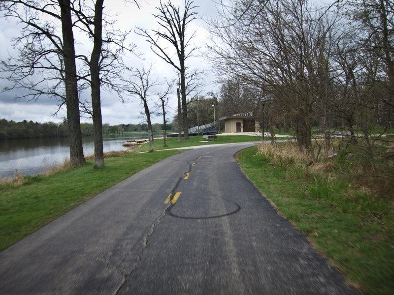Cruise along the Rock River Recreation Path near Shorewood Park.