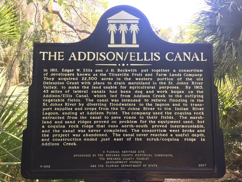 If you're interested, take a look at this historical placard near the end of the Coquina Trail.