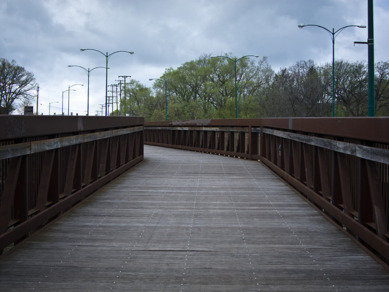 The Rock River Recreation Path crosses Riverside Bridge.