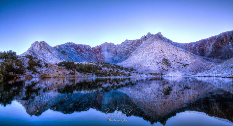 Fireman Lake is located off the PCT near Taboose Pass.