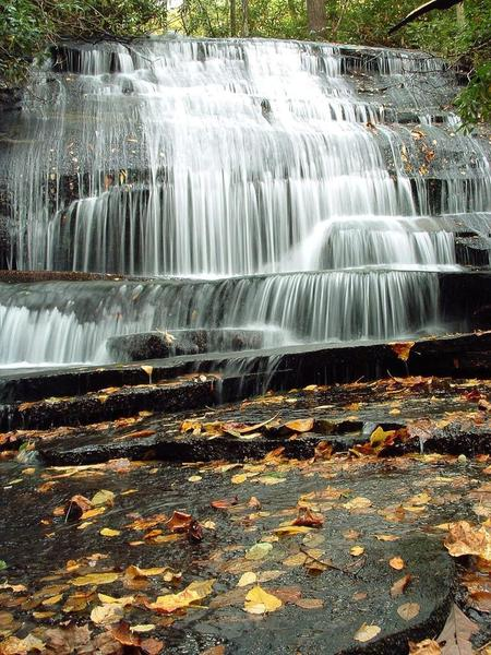 Grogan Creek Falls along the Butter Gap Trail is worth stopping to admire.
