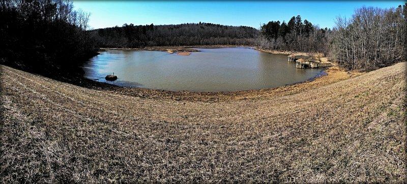 Chicopee Lake – the 10K and Half-Marathon cross the dam overlooking the lake.