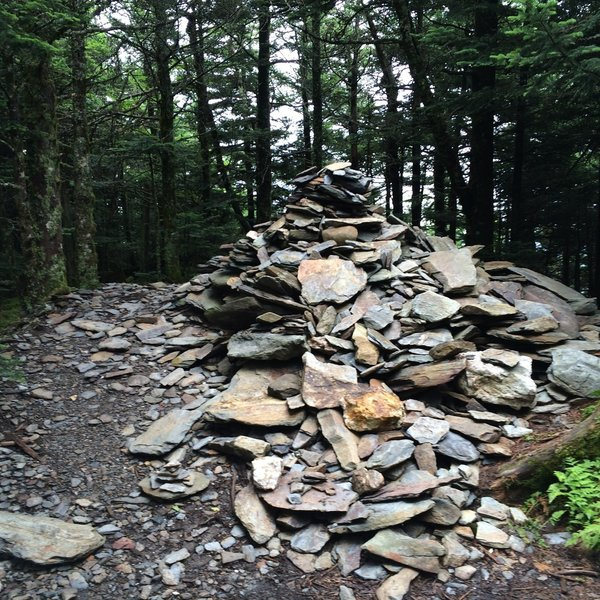 A giant pile of rocks has been left near the summit of High Top.