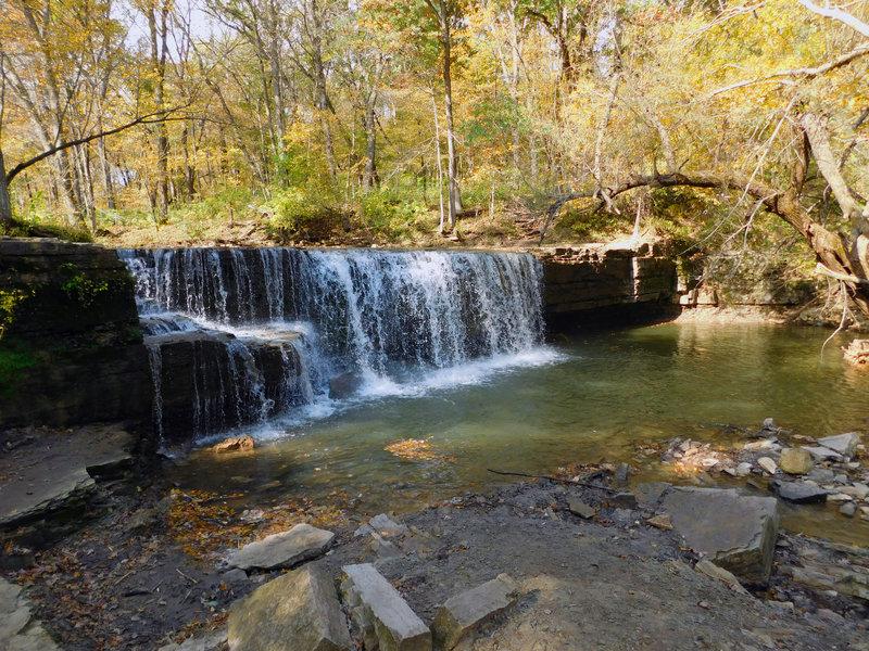 Along the Hidden Falls Trail, enjoy a graceful, creek-fed waterfall hidden in the Big Woods.