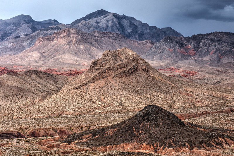 The desert landscape in this part of Nevada is utterly striking.